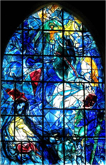 Chagall stained glass window - religious imagery