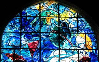 Stained glass window: Jesus