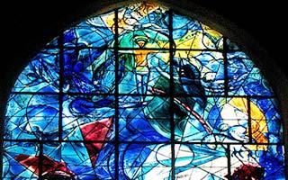Stained glass window: Jesus