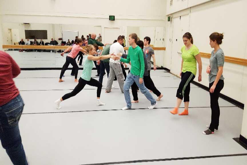 Photo: students dancing